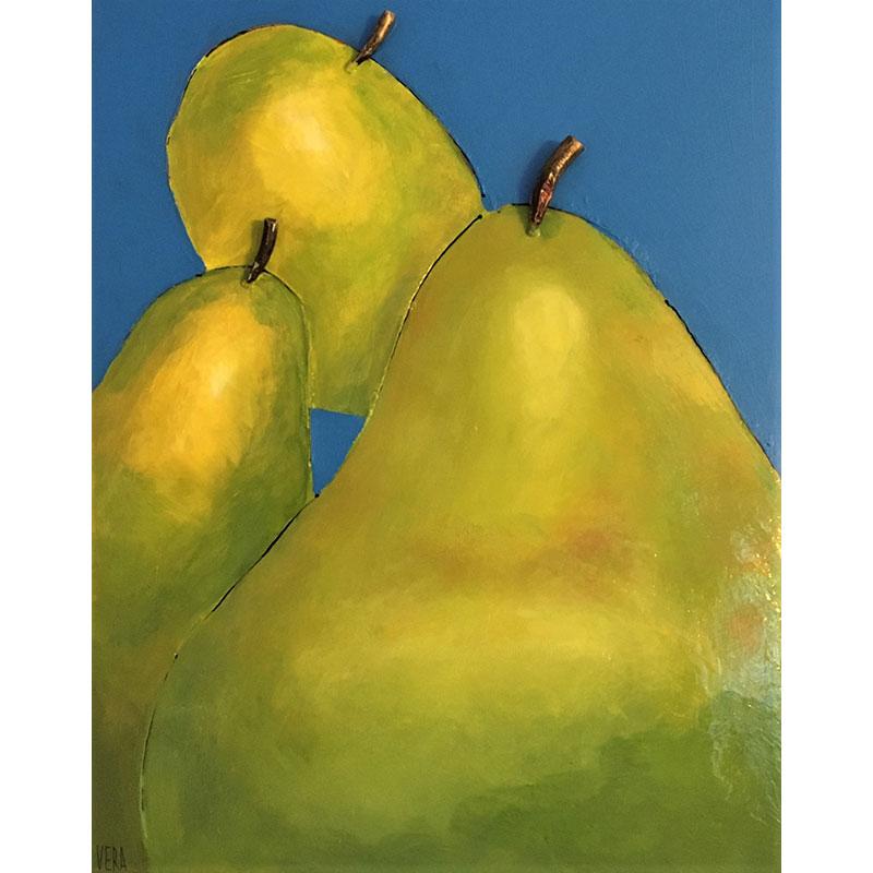 Metal Pears by Vera Litynsky