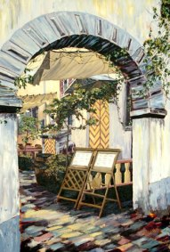 Cobblestone Cafe by Paivi Marshall