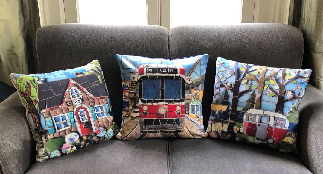 Decorative pillows by Anja Hertle