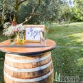 Frame for Wine Barrels for weddings in Tuscany