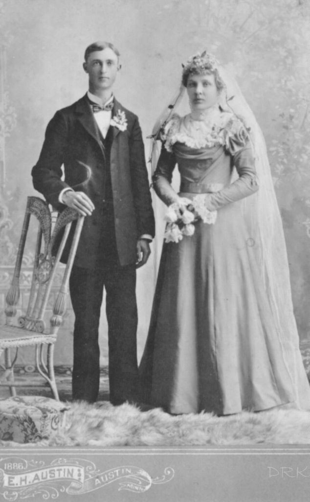 C.B. and Bertha Christianson, wedding.