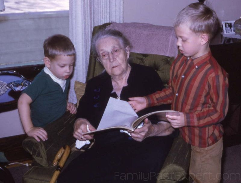 Alice Fehlhaber Aschbrenner, with great-grandsons, 1968.