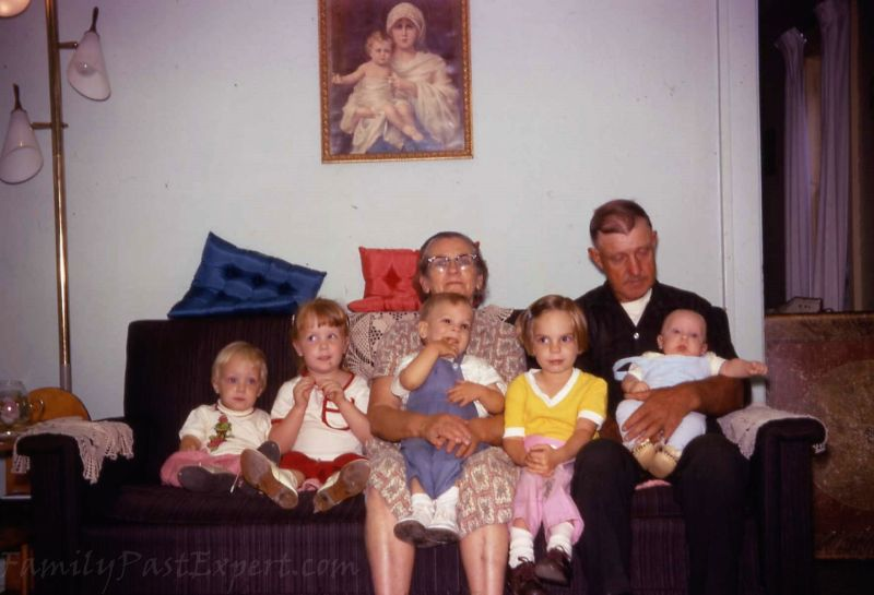 Margaret and Bennett with their first five grandchildren.
