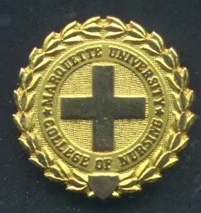 Marquette University Nursing Graduation Pin  Gold Nursing Pin