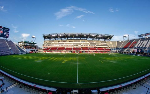 view of an empty Audi Field