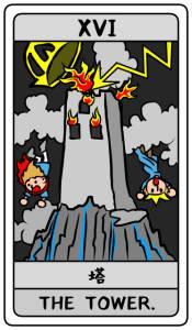 タロット 塔(正位置)