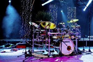 scene batterie yamaha maple custom - spiritual drummer - Franck Lechalupé