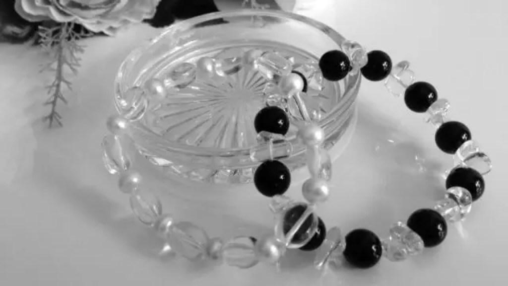 パワーストーン オニキス 水晶 ブレスレット