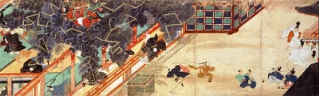 『北野天神縁起絵巻』に描かれた清涼殿落雷事件