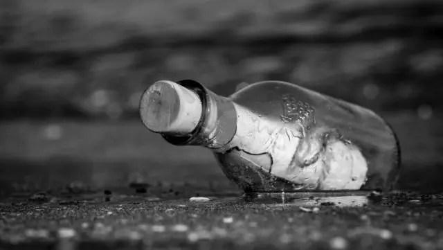 瓶に入った手紙 メッセージ 海