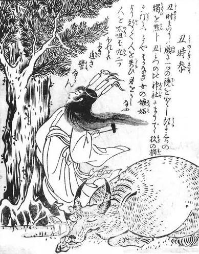 丑時参(うしのときまいり) 鳥山石燕『今昔画図続百鬼』