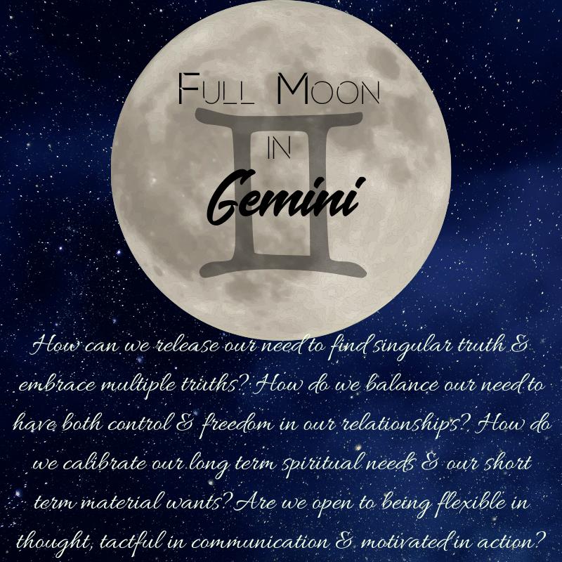 Full Moon in Gemini 2019