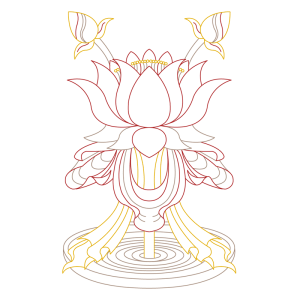 spiritual graphic design, graphisme spirituel, graphisme, spirituel, bien-être, motif, digital artwork, illustration, Inde, lotus, padma, auspicious, sign, signes, auspicieux, buddhism, bouddhisme, tibet, dharamshala, 8 signes, astamangala