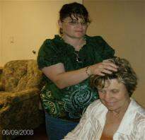 Performing Reiki at CTRC in San Antonio