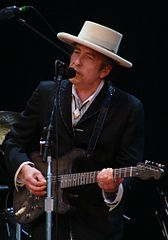 Bob Dylan auf der Bühne des Azkena Rock-Festivals in Victoria-Gasteiz