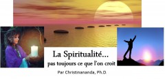 La spiritualité… pas toujours ce que l'on croit