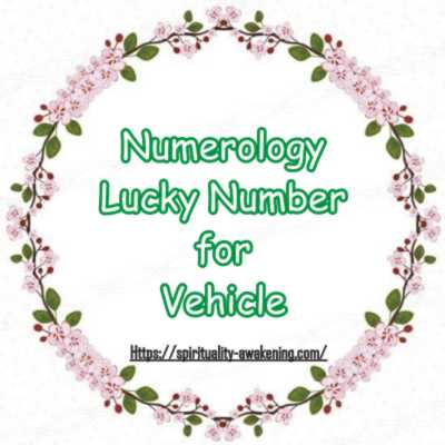 Numerology Lucky Number for Vehicle