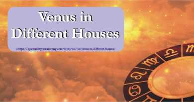 venus in different houses