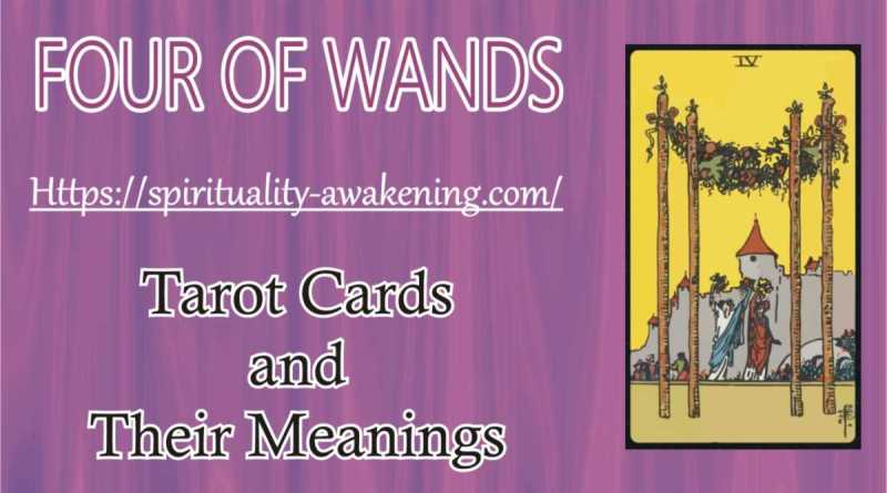 4 of wands tarot card --- four of wands