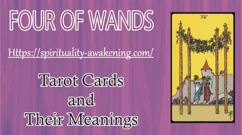 4 of wands tarot card --- four of wands