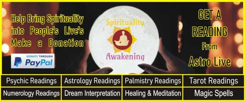 spirituality awakening - psychic readings - paypal donation