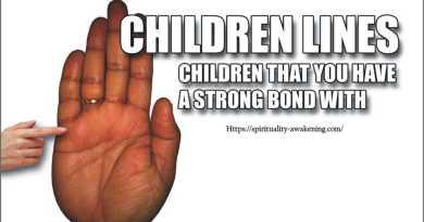 children lines on palm