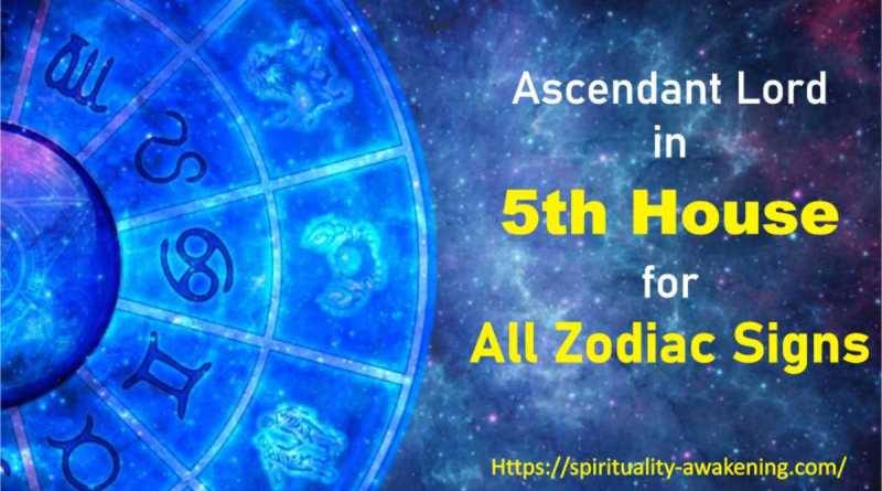 ascendant lord in fifth House