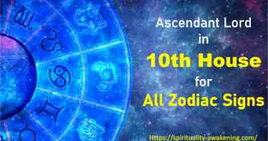 ascendant lord in 10th house, lagna lord in 10th house, 1st house lord in 10th house, first house lord in 10th house, rising sign lord in 10th house,