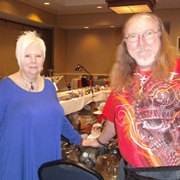 Dennis and Cindy Smith, caretakes of OSH, the ancient jade skull.