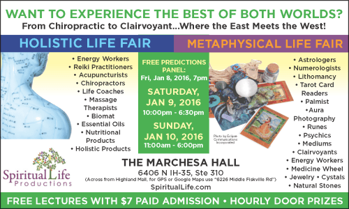 Austin Metaphysical and Holistic Life Expo - January 2016