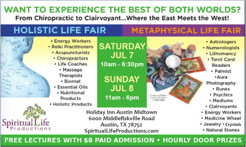 Austin Metaphysical and Holistic Life Expo - July 2018