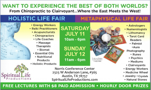 Austin Metaphysical and Holistic Life Expo - July 2020