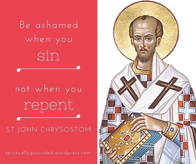 The shame of sin-St John Chrysostom