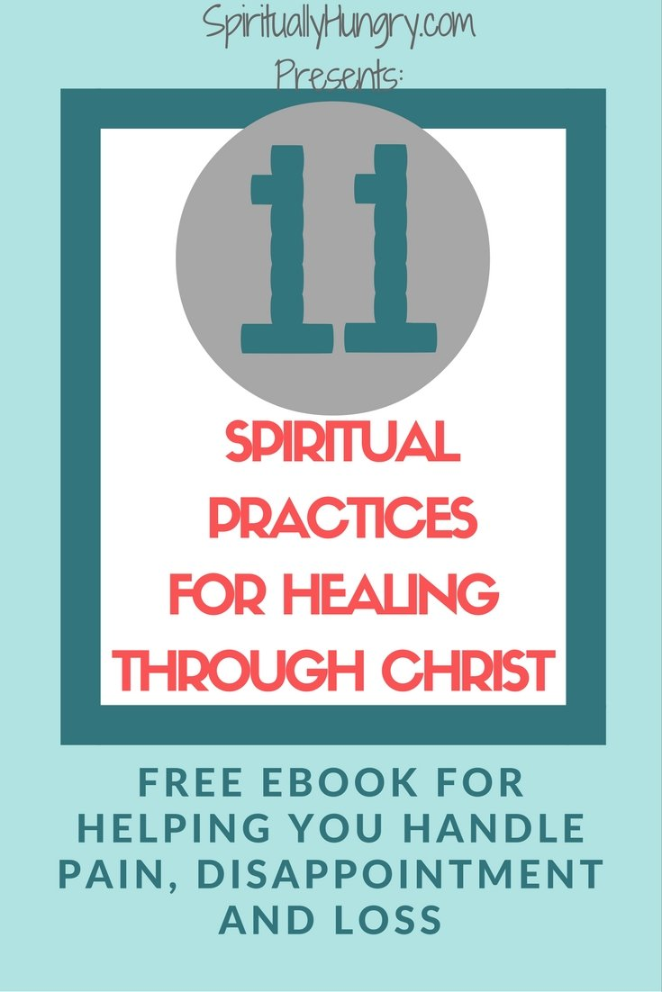 Get your free copy of 11 spiritual exercises for dealing with pain, disappointment and loss. Walk with God as you allow Him to heal you by using a variety of practices and prayers. We are excited to give you this free resource and hope that you will grow closer to God because of it!