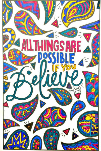 all things are possible if you believe, what happens when you believe and nothing happens?