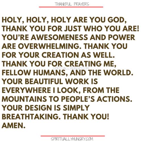 Thankful Prayers