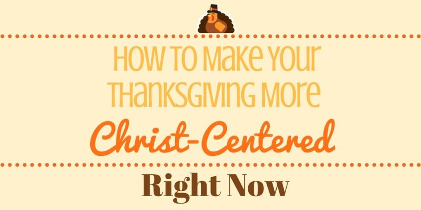 Yearning for your Thanksgiving to be more? More centered around Christ? It's a wonderful goal and something you can start achieving right now, come along to find out how!