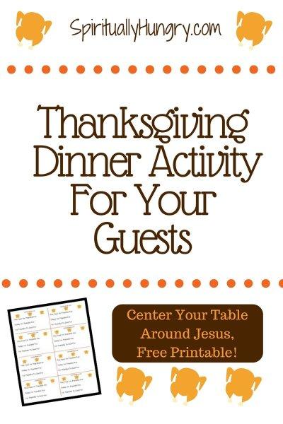 Thanksgiving Dinner Activity