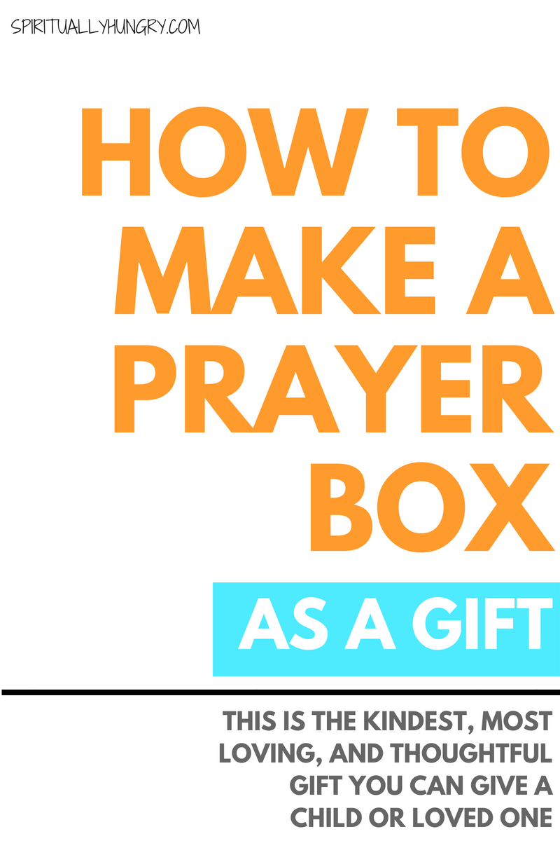 A homemade prayer box is seriously the best gift ever! What speaks more love and kindness than our prayers? Make this for your child, your spouse, a close friend or even your mom and it will be a hit!