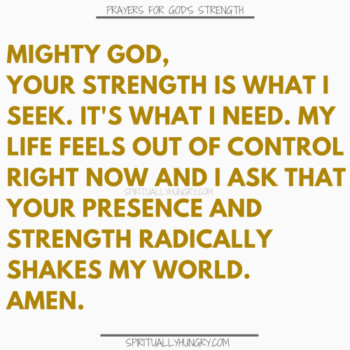 Prayer For God's Strength | Prayers For God's Strength
