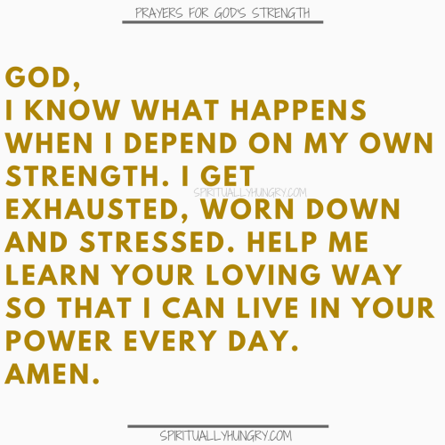 Prayers To Be Strong In God | Prayer To Be Strong In God