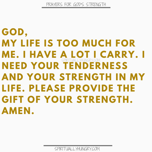 Prayers To Find The Strength Of God
