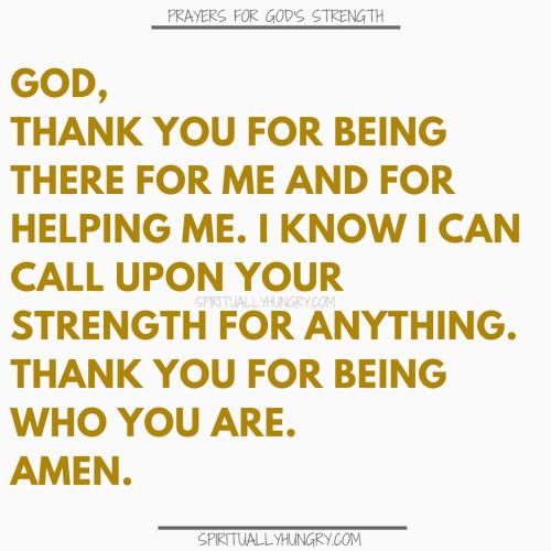 Prayer For Gods Strength | Prayers For Gods Strength