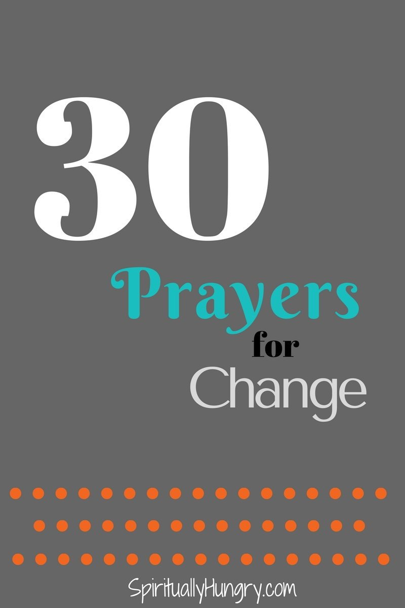 Looking to change your behavior but can't seem to find a way? We have created 30 prayers just for you to help you turn to God for change. The prayers are right in the post!