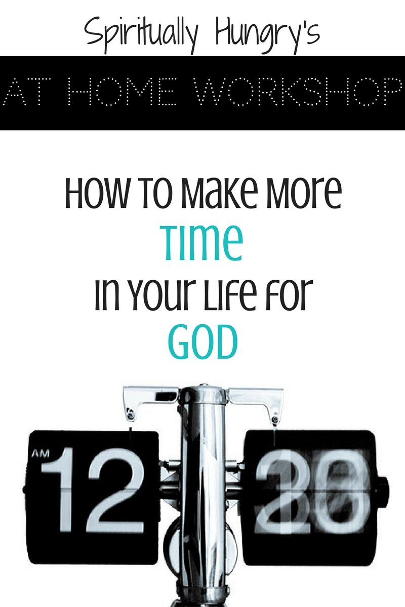 You want to have a deeper relationship with God, but you just don't have the time. Find new ways to create space in your busy day for God with this 30-minute workshop. Includes a workbook to help you begin your journey toward creating more time for God.