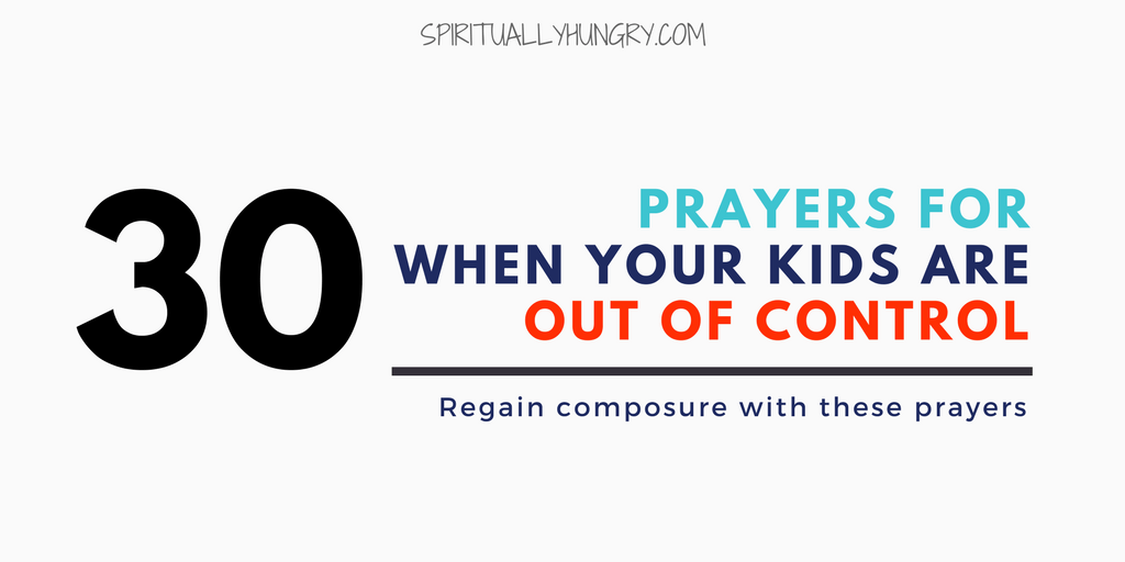Prayer For Kids Behavior To Say Right Now