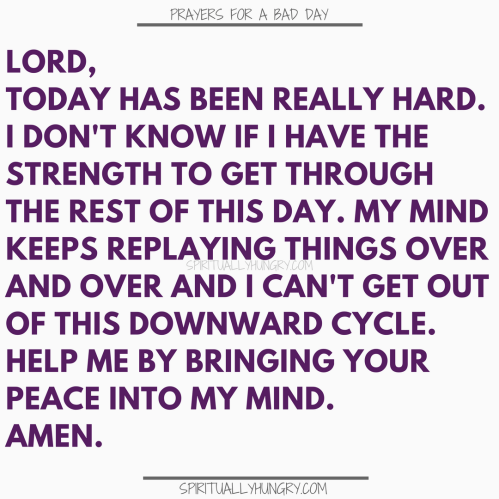 Prayer For A Crappy Day | Prayers For A Crappy Day