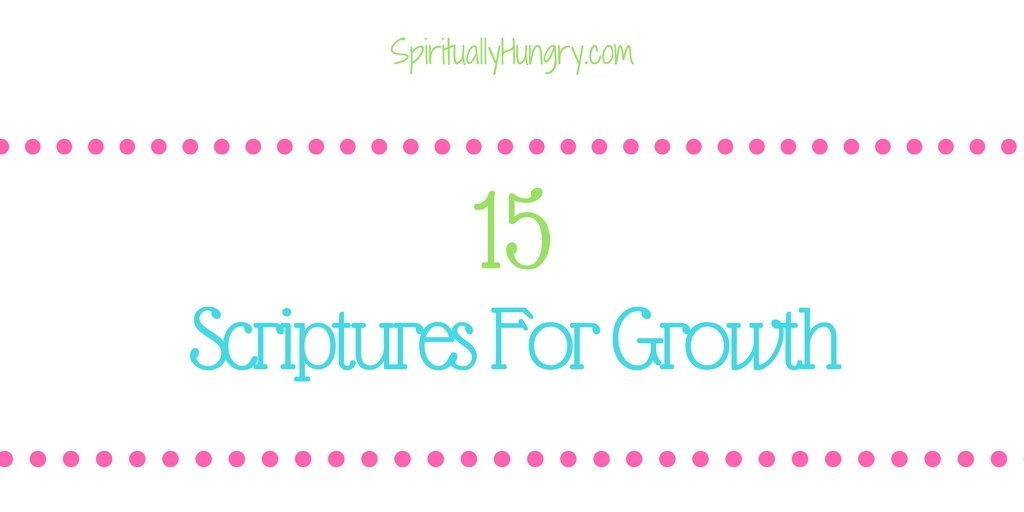 Check out these 15 Scriptures that have helped me grow closer to God and can help you too! They are amazing pieces of Scripture. All passages are found right in the post.