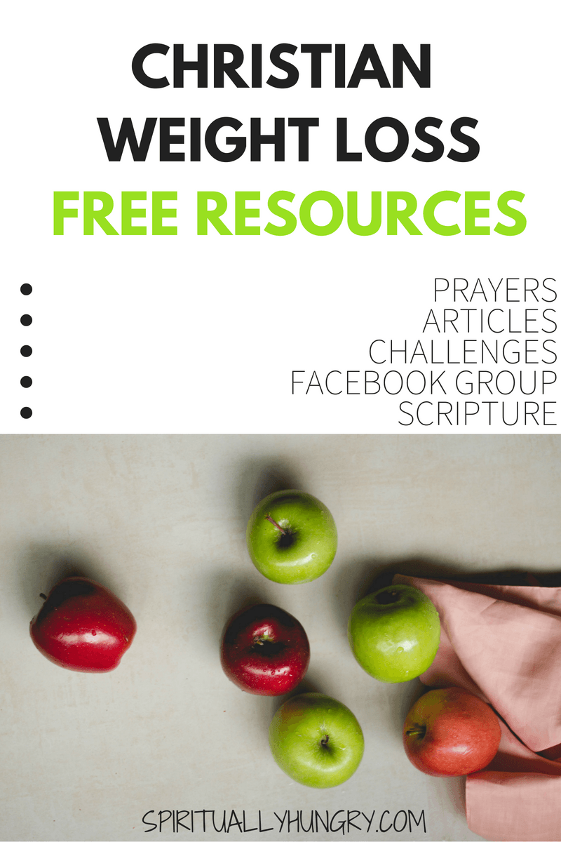 Weight loss is tough. It can be especially difficult alone. We have a lot of helpful resources to help aid you on your journey of weight loss. Free Christian weight loss prayers, articles, plans, facebook support group and much more! We've got the resources to help you connect to God to help you succeed.