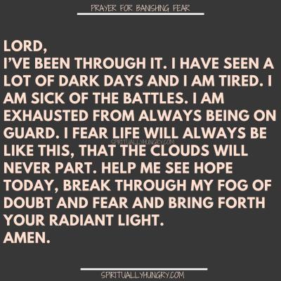 Prayers For Fear